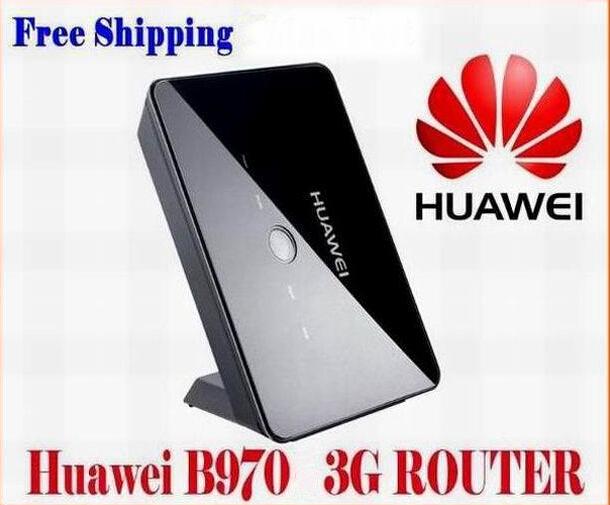 Unlocked Huawei B970 3G UMTS/HSDPA 2100MHz Wireless Router 7.2mbps WIFI 4 RJ45 LAN & 1 RJ11 Ports External Antenna Voice(China (Mainland))