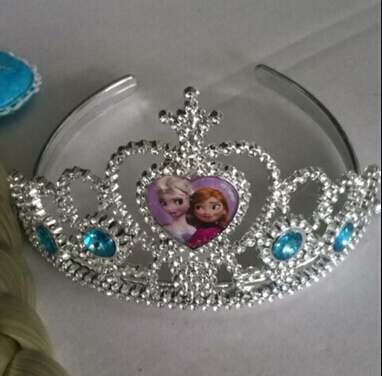 Newest Child Hair Accessories Elsa Anna Rhinestone Crown Girls Party Accessories(China (Mainland))