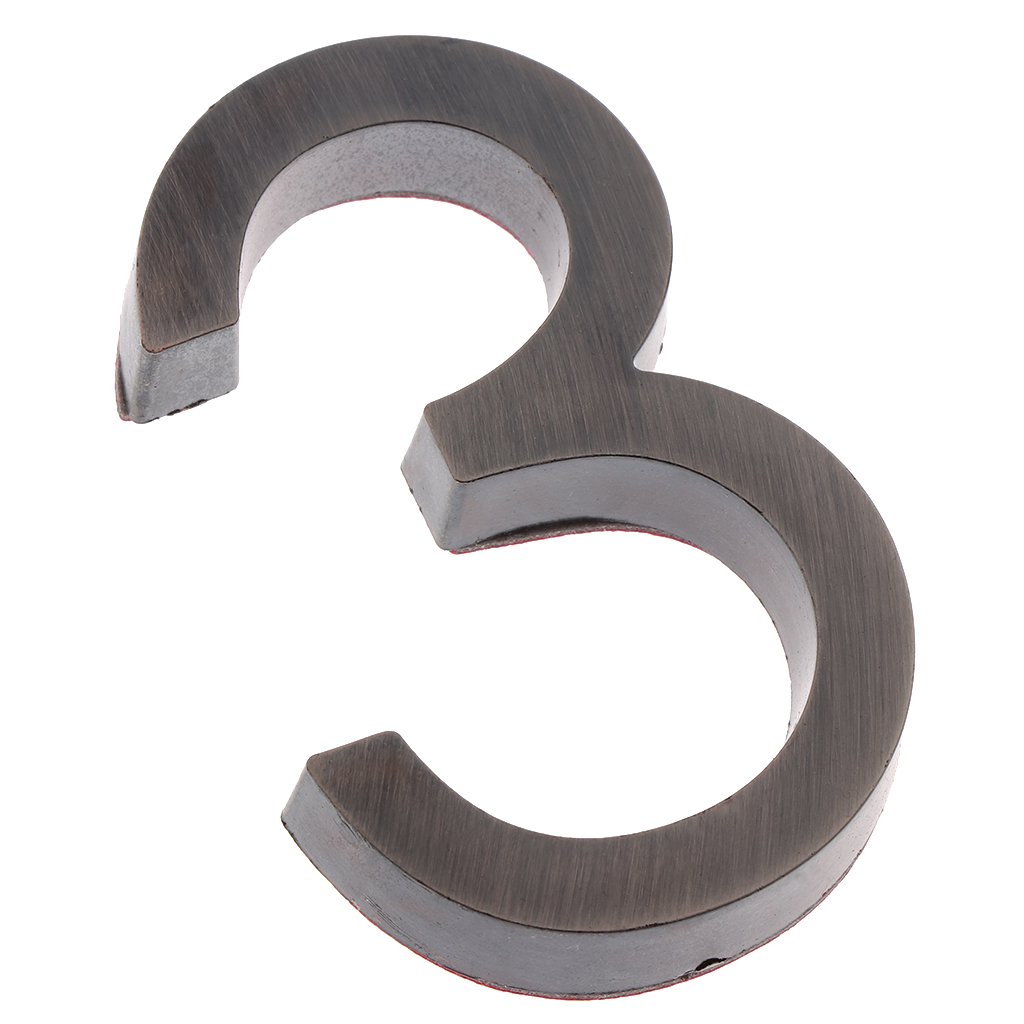 High Quality Silver Satin Chrome Door Numbers & Door Number Address Plaques For House Flat Apartment Shop Decoration Supplies