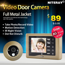 Super Thin 3.0 LCD Digital Peephole Viewer Door Video Camera with Alloy Metal Case