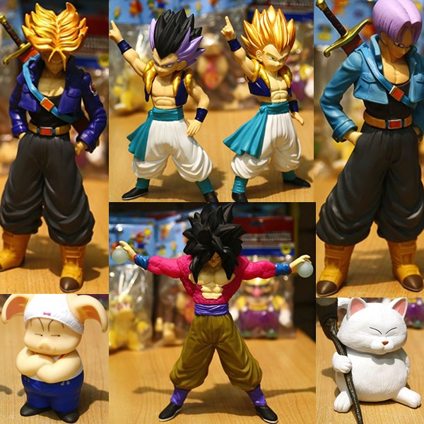 10type Dragon Ball Z Goku Gotenks Trunks Chaos Action Figures Japan Anime Collections Toys Gifts For Kids With Nice Package #F(China (Mainland))