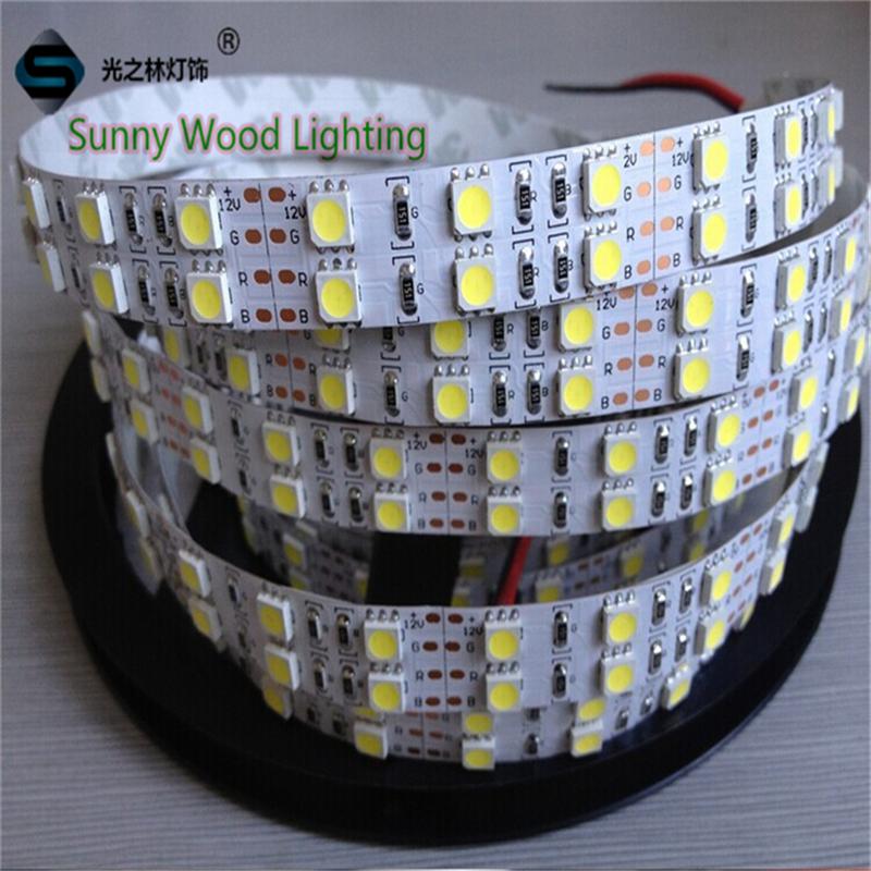 5m/roll Free shipping 3 year warranty LED strip 120pcs/m 24W/M SMD 5050 LED softstrip 12V DC IP20 Epistar LED(China (Mainland))