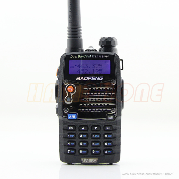 Baofeng UV-5RA UV 5RA Two Way Ham CB Portable Radio Comunicador Amador VHF UHF Dual Band Walkie Talkie PTT PMR Walk Talk(China (Mainland))
