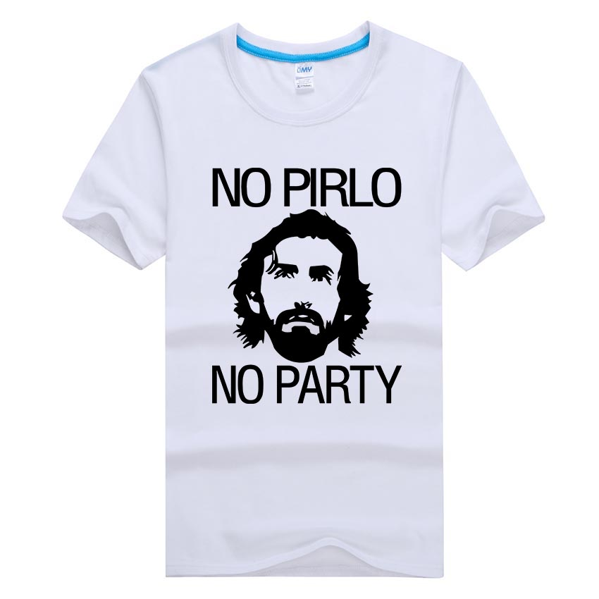 Cheap Top Quality Graphic Men T Shirts No Pirlo No Party Andrea Juventus Cool Homme Funny Mens Brand T-shirt Plus Size O Neck(China (Mainland))