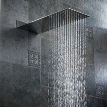 BECOLA bathroom shower nozzle pressure Into the wall concealed shower head Ultra thin stainless steel shower head(China (Mainland))