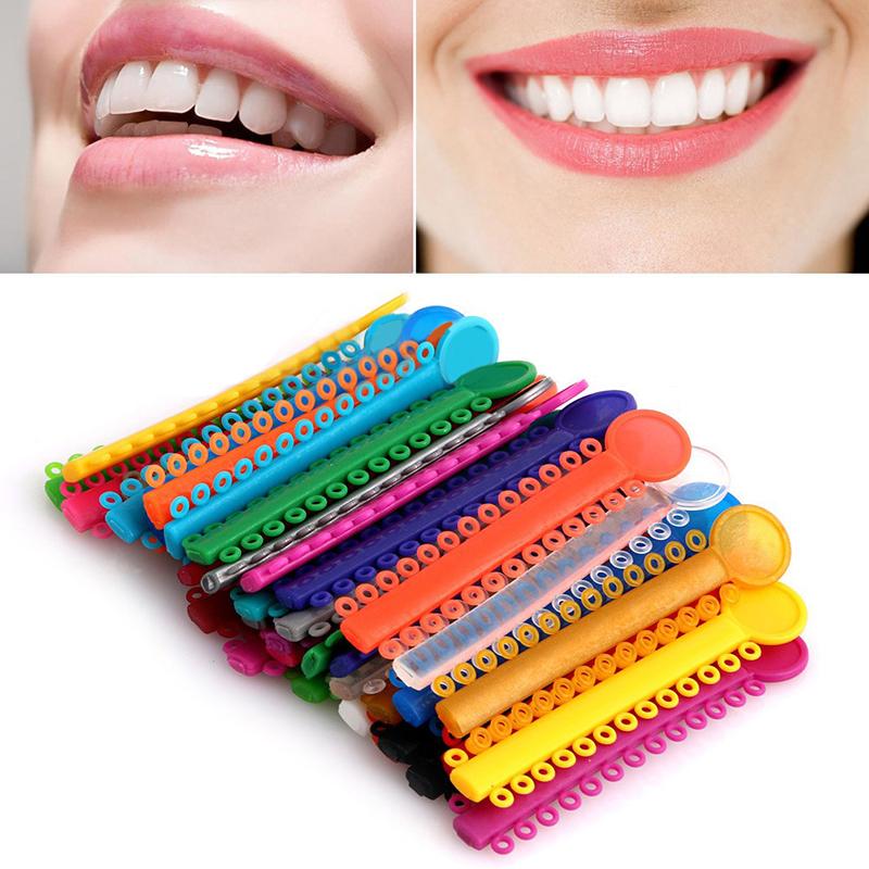 1Pack 40Pcs Dental Ligature Ties Orthodontics Elastic Multi Color Rubber Bands For Health Teeth Tools(China (Mainland))