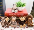 Zero Profit Cute15cm Germany Nici Jungle Brother Tiger Elephant Monkey Lion Giraffe Plush Animal Toy 5pcs