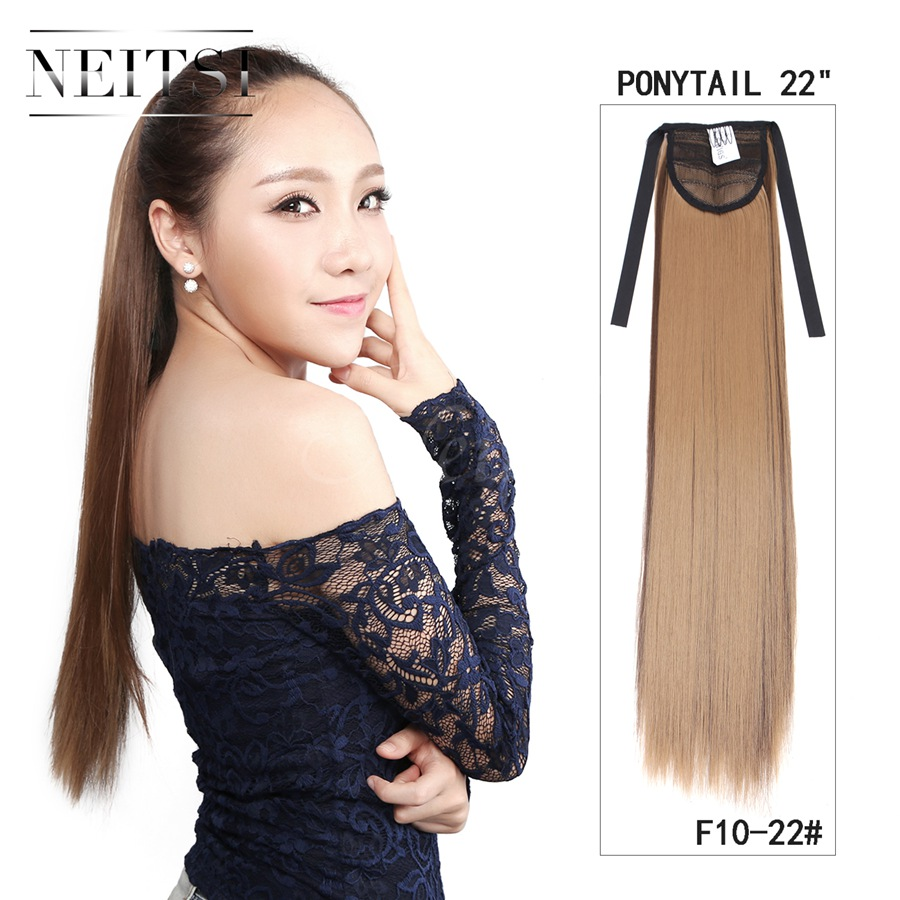 Fake Ombre Hair For Kids Neitsi 1pc 22 Quot Synthetic Straight Ponytail
