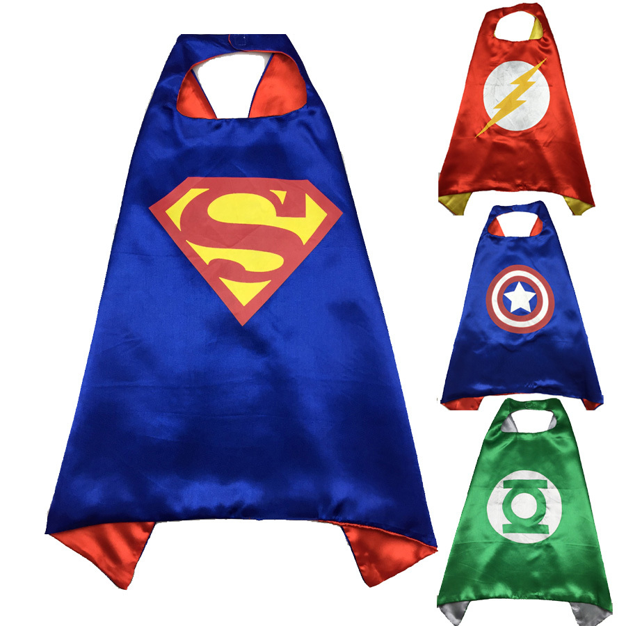 1 set cape 70*70cm big hero superhero capes suit for kids baby boy girls birthday Party supplies great heroes costumes(China (Mainland))