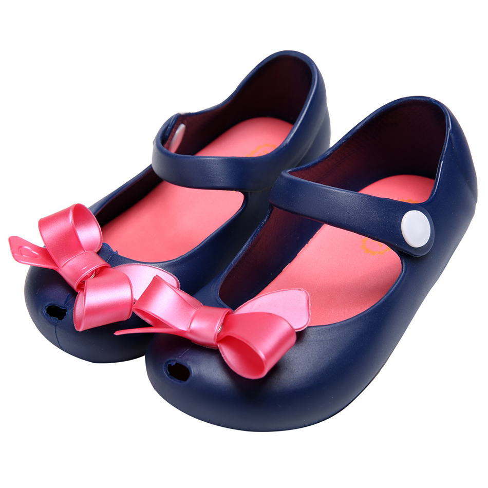 2016 Kids font b Shoes b font Girls New Baby Rubber Mini Melissa Cute Bow Girls