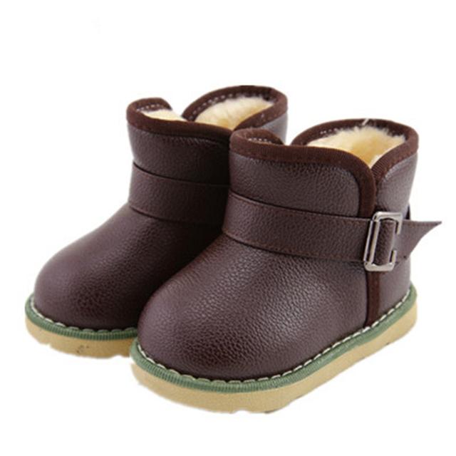 Высокое качество ребенок снегоступы ботинки зима искусственная кожа мальчики девочки ...