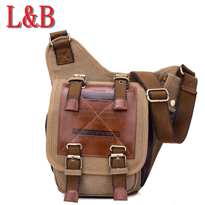 New European and American cotton canvas messenger bag men Messenger bag man cowboy Knight multifunction bag retro shoulder bags(China (Mainland))