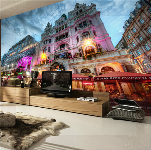 Custom any size 3d wall mural stereoscopic wallpaper for City view wallpaper mural