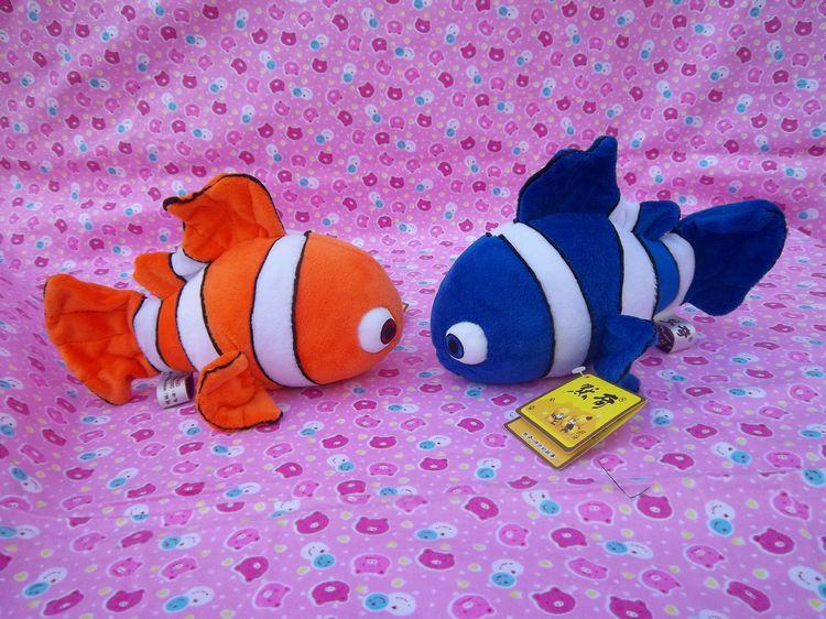 Stuffed animal sea world  24cm blue and orange Clownfish plush toy doll high quality gift present w1146<br><br>Aliexpress