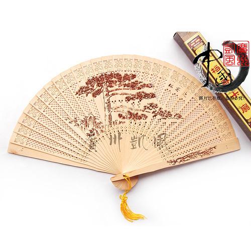 (50 pieces/lot) High Quality Las Meninas Printing Fashion Chinese Folding Hand Wooden Fan(China (Mainland))
