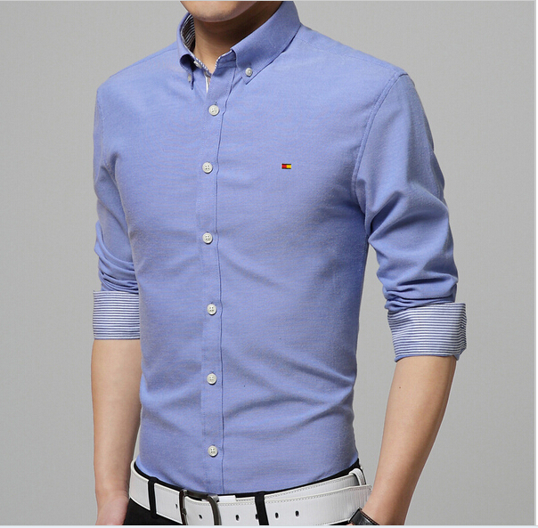 New 2015 Dress shirts Men's Blouses  Men Shirt  Fashion Slim Fit Casual Camisas Masculinas Mens Long Sleeve  Homme Shirts
