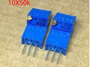 Гаджет  10 x 50K Ohms 3296 Trimmer Potentiometer Pot Resistors None Электронные компоненты и материалы