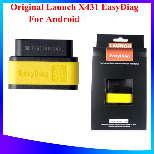 Оборудование для диагностики авто и мото Launch 2015 X 431 EasyDiag OBDII Diag launch x431 idiag connector full set package x 431 easydiag adapter launch x431 yellow box without b enz 38 pin adapter in stock