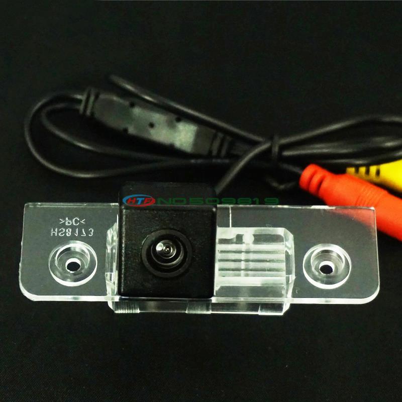 wire wireless CCD Reverse backup camera for Skoda octavia rear parking kit night vision waterproof Fast shipping(China (Mainland))