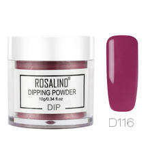 ROSALIND Dipping Powder Holographic Dust Nail Art Decorations without Lamp Cured 10g All For Manicure Nails Glitter Dip Powder(China)
