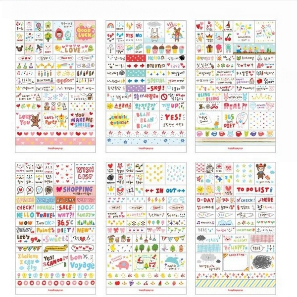 1 Pack Kawaii Diary Decoration Scrapbooking Stickers Transparent PVC Stationery Planner Stickers Pink Post It(China (Mainland))