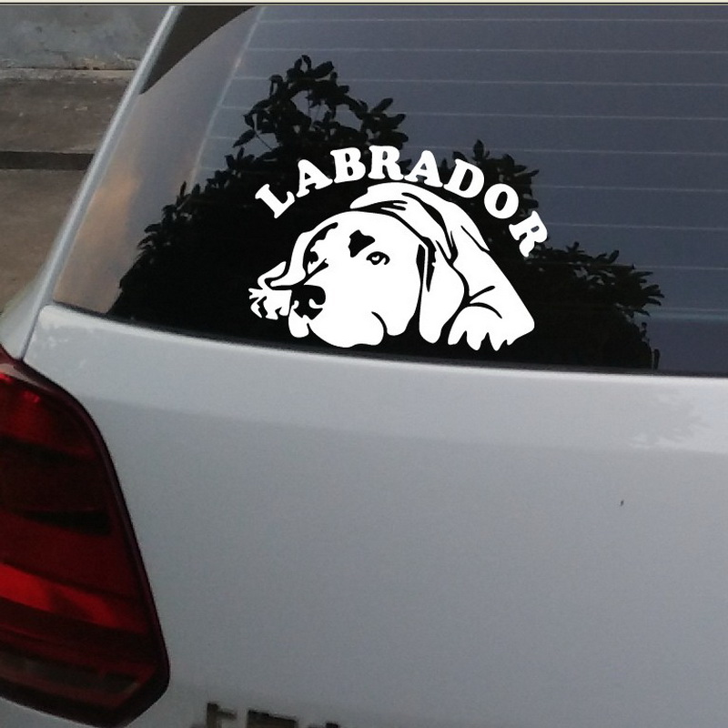 High Quality motorcycle Stickers Decals Car styling Reflective Type Car stickers Labrador Stickers For Car Bumper Accessories(China (Mainland))