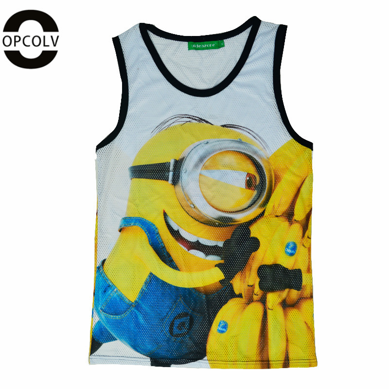 OPCOLV New Fashion Men/Women Despicable Me Print 3D Tank Tops Casual Minions Vest Gym Sport Tank Top Clothes Regata Tops(China (Mainland))