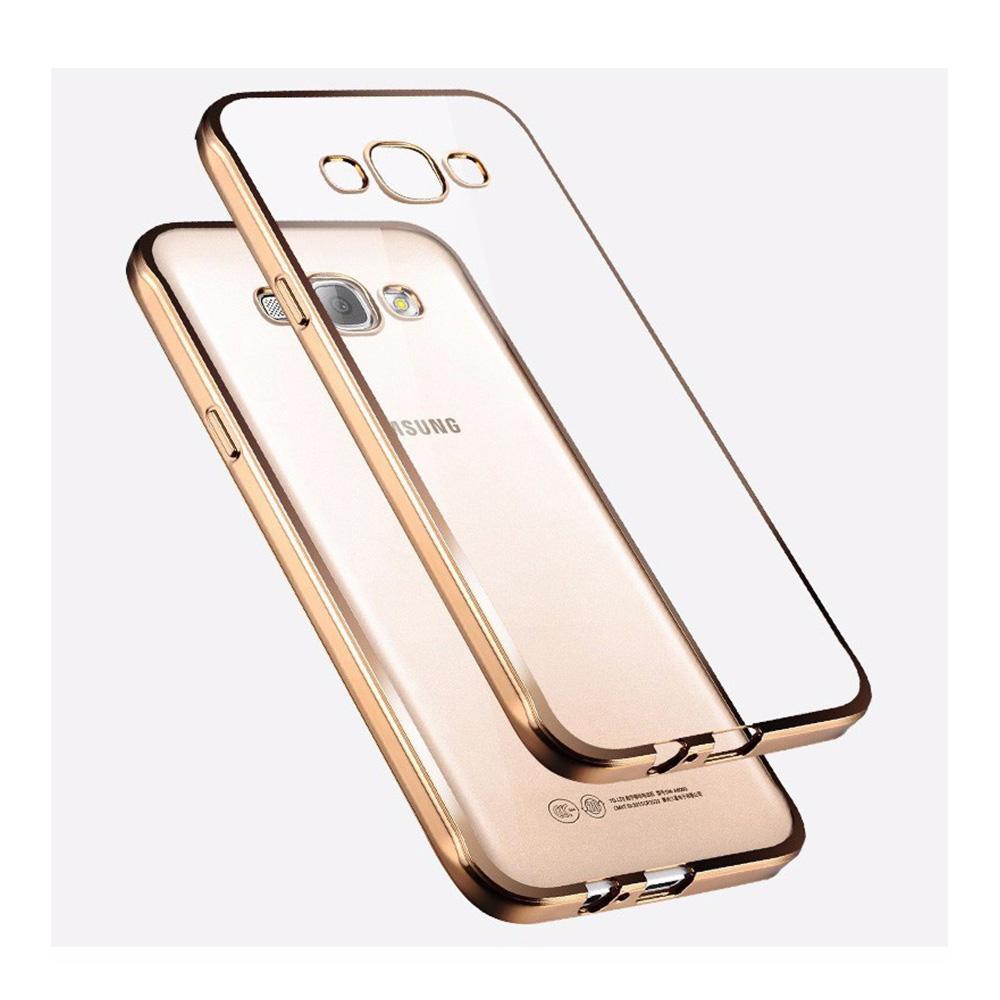 Ultra Thin Crystal Clear Silicon Cover Plating Bumper Phone Case For Samsung Galaxy J1/J1 2016/J3/J3 2016/J5/J5 2016/J7/J7 2016(China (Mainland))