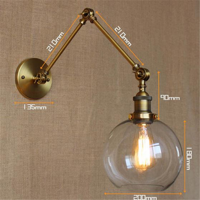 Wall lamp retro rural industry industrial simple European style dining room bedroom corridor ...