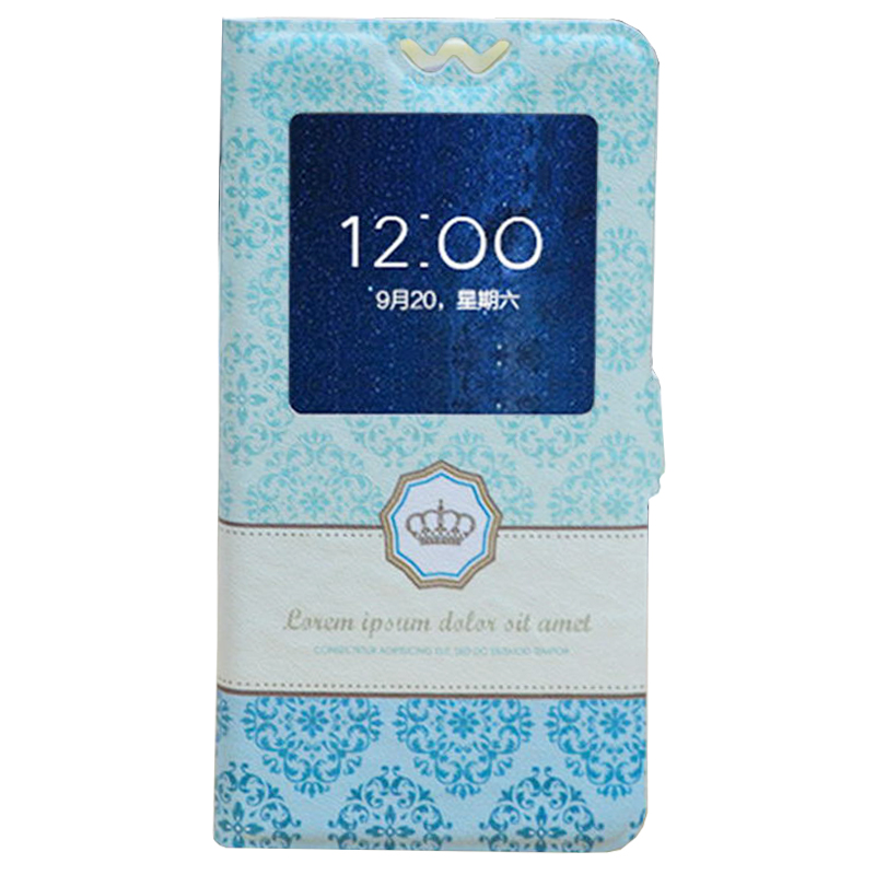 Cartoon Stand Style Cover PU Leather Case For MIZO I9 ,Cat Girl Flower print Ultra-thin phone casesAccessories(China (Mainland))