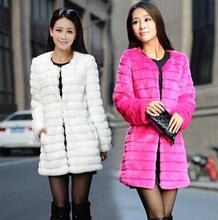 Womens Coats And Jackets Winter 2015 Korean Faux Rabbit Fur Coat Women Clothing Long Winter Jacket roupas casaco(China (Mainland))