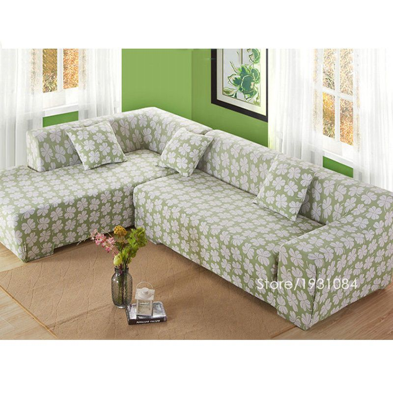 Flower tight elastic sofa cover slipcover fundas de sofas - Fundas de sofa ajustables ...