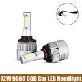2 x 9005 COB LED Car Headlight 72W 8000LM All In One COB LED Headlights Bulb
