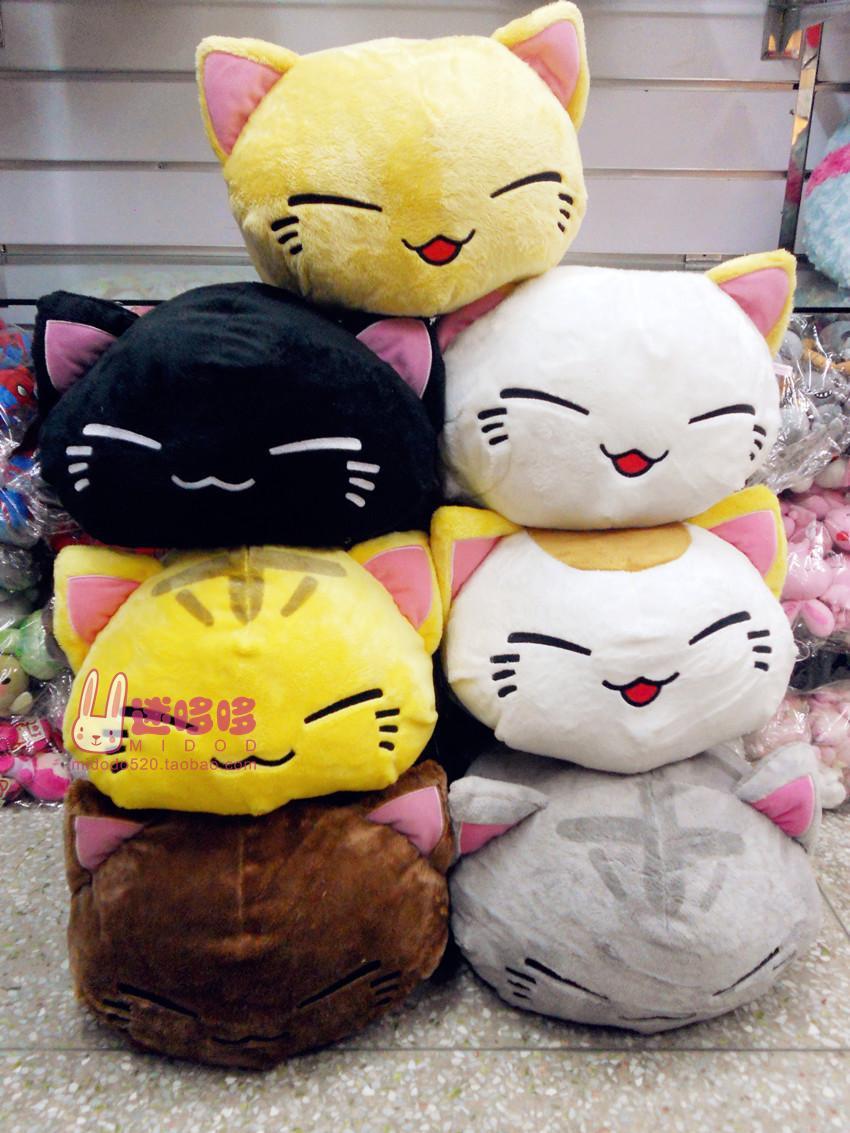 Cute Big Cat Plush Toy Pillow : Free shipping New 7 cute sleeping cat Cotton plush pillow toys for children-in Stuffed & Plush ...
