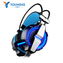 New GPQW21 Headset Headset Microphone LED Light 7.1 Virtual Surround Sound Vibration Competitive Edition Game Computer Headset(China (Mainland))