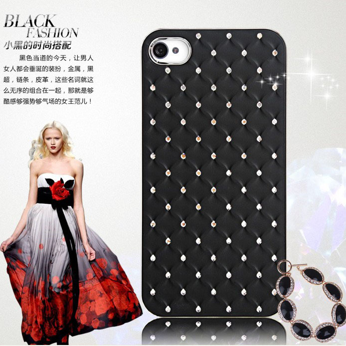 Super Shiny Cheap Plating Diamond Hard Back Cover Cases For iPhone 4 iPhone4 4s Luxury Slim Bling Woman Phone Accessories Bags(China (Mainland))