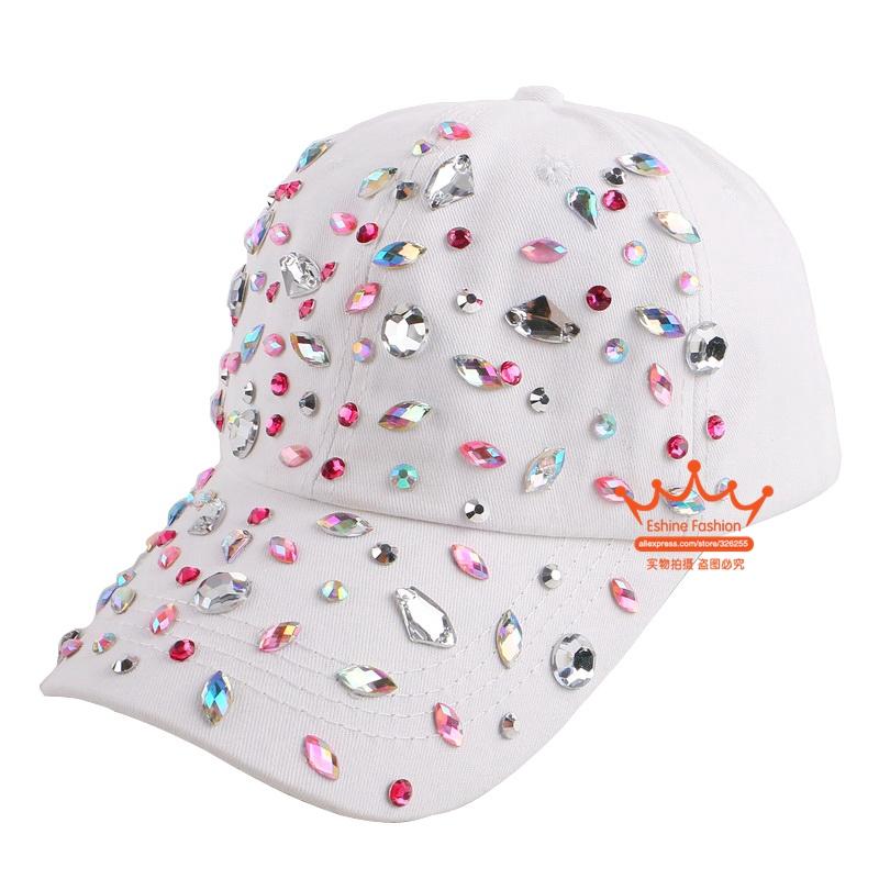 Beauty caps new design popular women rhinestone star denim baseball cap fashion brand woman jean crystal hip hop snapback hats(China (Mainland))