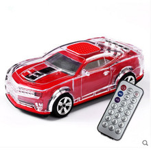 Car model Remote control speakers Colorful LED lights card speakers bluetooth 4.0 speakers for mobile phone mini rechargeable