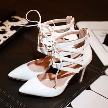 3 Colors 2015 fashion womens purple / white / black Patent Leather sandals summer Pointed Toe pumps for women Plus Size:31-43<br><br>Aliexpress