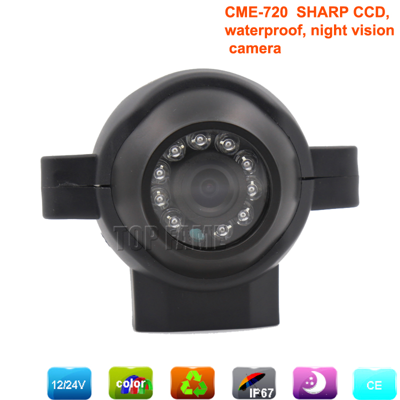 sharp CCD rear view camera with night vision 4 pin waterproof camera ideal for truck/boat/etc. for auto parking assistance(China (Mainland))
