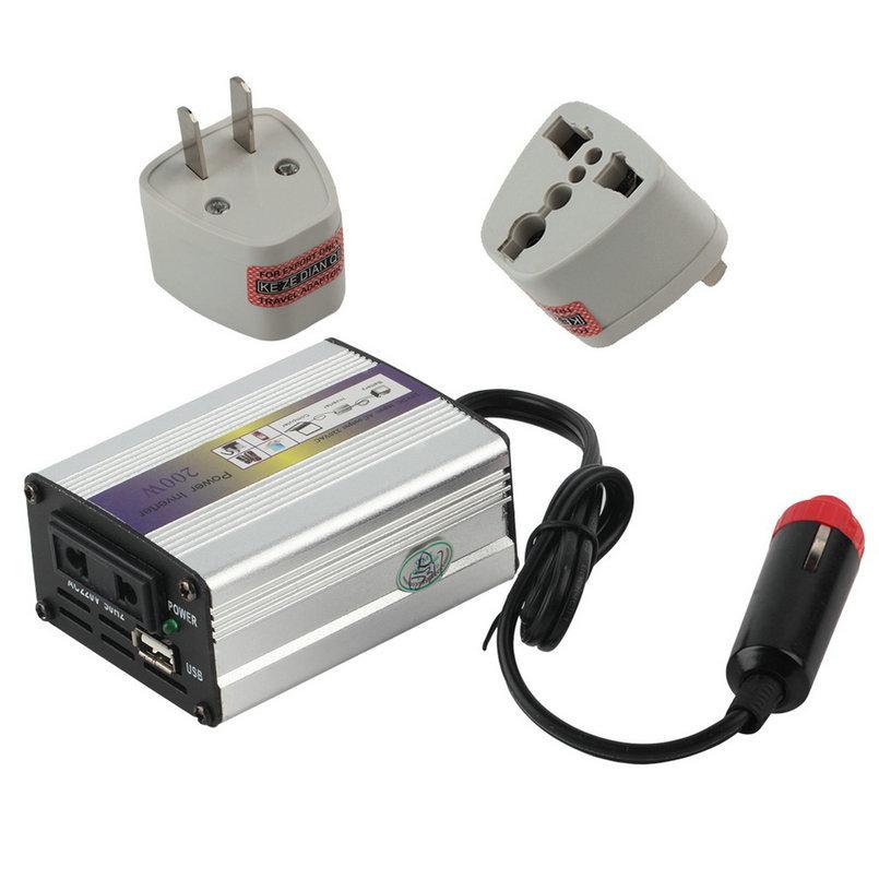New1 set 200W USB 24V DC to AC 220V Car Auto Vehicle Power Inverter Adapter Converter car stylingDrop Shipping&(China (Mainland))