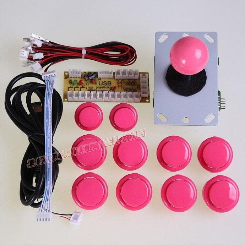 DIY Arcade game parts PC of Zero Delay Arcade DIY Kit Mame USB Encoder +Sanwn type Joystick+Sanwn type Push Buttons+Wire harness(China (Mainland))