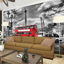 Customized size wall murals papel de parede european London Street View photo wallpaper mural for living room bedroom decal(China (Mainland))