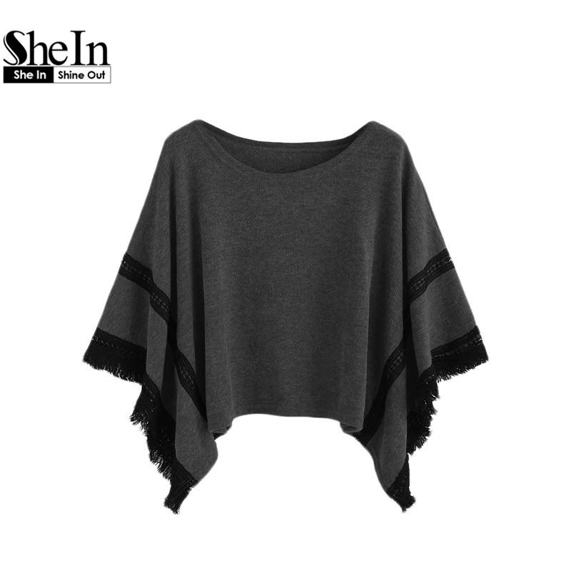 Online kaufen gro handel kostenlos h keln poncho aus china for Shein frauen mode