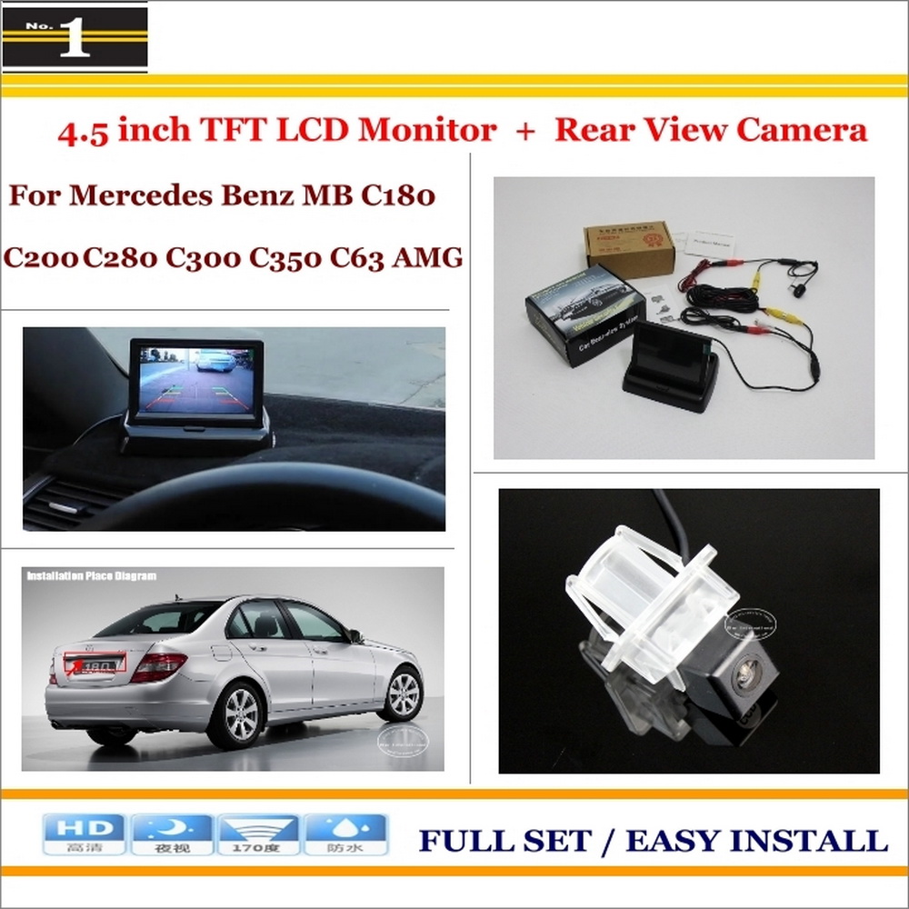 """For Mercedes Benz C180 C200 C280 C300 C350 C63 AMG - Car Reverse Rear Camera + 4.3"""" TFT LCD Monitor = 2 in 1 Parking System(China (Mainland))"""