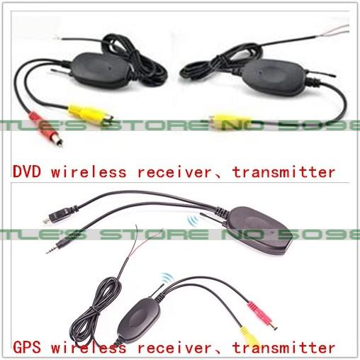 2.4Ghz Wireless Transmitter Receiver for Reverse Camera Video Car Backup Rearview Parking reversing DVD/GPS Player Monitor(China (Mainland))