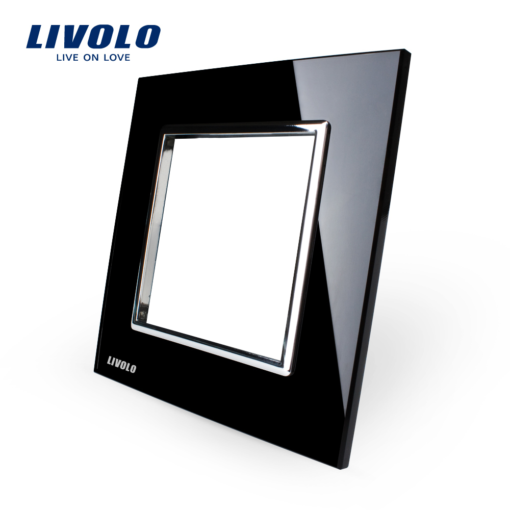 Livolo Luxury Black Pearl Crystal Glass, 80mm*80mm, EU standard DIY Part Of Switch Socket , Single Glass Panel ,VL-C7-SR-12(China (Mainland))