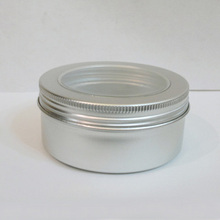 150g window Aluminum Jars for Cosmetic Facial Cream Mask Sample Containers Food Packaging Bottles Free Shipping(China (Mainland))