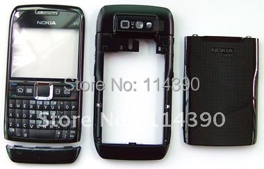 Full BLACK New housing faceplate cover case+ keypad keyboard fit for Nokia E71(China (Mainland))