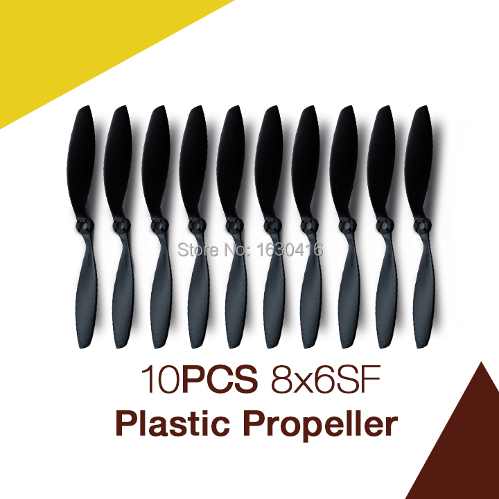 Maytech 10pcs 8inch EP electric plastic propeller 8x6 SF props for rc radio control slow fly vertiplane aircraft(China (Mainland))